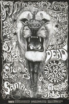 Grateful Dead, Steppen Wolf, Santana.