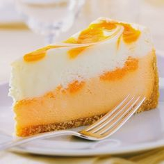 This month Ginsberg's foods is featuring an Orange Creamsicle Cheesecake from Sweetstreet. Smooth white chocolate cheese is layered on a creamy orange-infused cheesecake vibrantly swirled . Orange Cheesecake Recipes, Orange Recipes, Orange Creamsicle Cheesecake Recipe, Köstliche Desserts, Delicious Desserts, Dessert Recipes, Summer Desserts, Trifle, Cupcakes