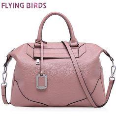 FLYING BIRDS! boston style genuine leather handbag women handbag women leather bags shoulder bags high quality bolsas LS4542fb