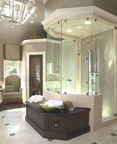 Hexagon octagon bathroom shower