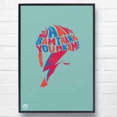Bowie 'Suffragette City' Print