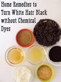 Remedy For White Hair, Grey Hair Remedies, Home Remedies For Hair, Hair Loss Remedies, Natural Remedies, Natural Black Hair Dye, Black And Grey Hair, Natural Hair Care, Natural Hair Styles