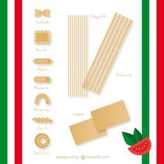 Italian pasta Free Vector