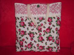 """Handtasche - Shopper """"Stickerei trifft Rosen"""" - ein Designerstück von Traum-Taschen bei DaWanda"""