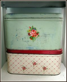 vintage bread boxes