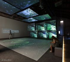 The Italian Pavilion, curated by Luca Zevi, at the International Architecture Exhibition — Venice Biennale Museum Exhibition Design, Exhibition Display, Exhibition Space, Design Museum, Interaktives Design, Display Design, Graphic Design, Digital Wall, Digital Signage
