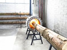 This Ridiculous Stove Can Burn an Entire Tree Trunk   Wired Design   Wired.com