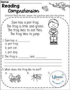 Kindergarten Reading Comprehension Passages is a set of 20 spring themed reading passages for emergent and early readers. Reading Comprehension Worksheets, Reading Fluency, Reading Passages, Reading Strategies, Reading Activities, Comprehension Strategies, Early Reading, English Reading, Common Core Reading
