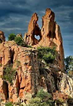 Heart of Calanches de Piana, Corsica, France