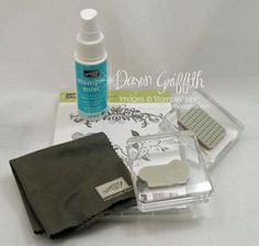 Stampin' Up!  Dawn Griffith  Cleaning clear blocks & stamps video