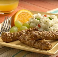 al fresco ® Recipe - Country Style Breakfast Sausage & Fluffy Scrambled Egg Whites Vegetarian Breakfast, Sausage Breakfast, Best Breakfast, Al Fresco Recipe, Make Ahead Breakfast Burritos, Fluffy Scrambled Eggs, Christmas Breakfast, The Best, Egg Whites