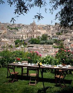 Casa Talia, Modica Sicily, heavenly breakfast & view with the gorgeous Vivian Haddad and Marco Giunta Oh The Places You'll Go, Places To Travel, Places To Visit, Travel Destinations, Dream Vacations, Vacation Spots, Beautiful World, Beautiful Places, Beautiful Hearts