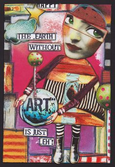 """The Earth by bockel24, cut and paste journal page made with Crowabout StudioB kit """"Honor the Soul"""" (http://www.mischiefcircus.com/shop/product.php?productid=24635&cat=&page=), available at MischiefCircus.com"""