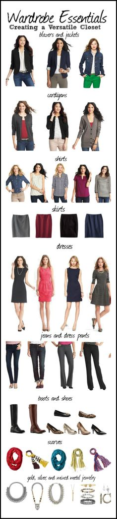 My New Favorite Outfit: Putting All the Pieces Together: Building A Wardrobe - Office Outfits Build A Wardrobe, Work Wardrobe, Capsule Wardrobe, Teacher Wardrobe, Casual Outfits, Cute Outfits, Fashion Outfits, Womens Fashion, Fashion Tips