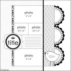 4 photo LO - use Elegant Edges medallions