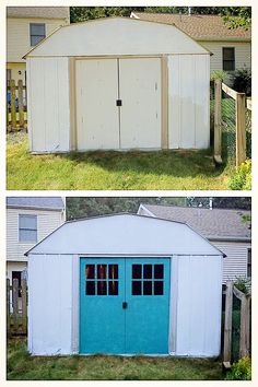 fetching tuff shed greenhouse. Metal Shed Makeover  DIY using TSP pre wash spray paint cardboard Spray Paint the metal shed Everything Pinterest