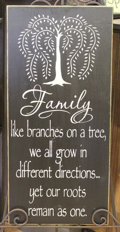 Willow Tree Family Beautiful Sign/Great Gift/Housewarming Gift/Gift. via Etsy.
