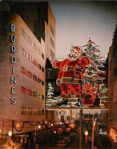 Vintage Burdines Department Store Christmas Decorations; awesome