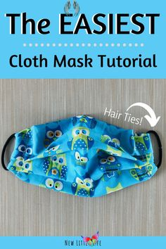 The EASIEST cloth mask tutorial you can find, perfect for the beginner sewer. There is only 2 places to sew! This 5-minute face mask tutorial includes a video and written instructions. #clothfacemask #DIYfacemask #covid19 #easyfacemask #newlittlelife via @newlittlelife<br> Easy Face Masks, Face Masks For Kids, Diy Face Mask, Homemade Face Masks, Sewing Projects For Beginners, Sewing Tutorials, Sewing Hacks, Diy Projects, Sewing Tips