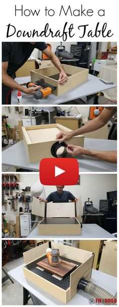 Learn how to make a downdraft sanding table in this video tutorial.