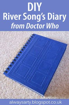 DIY River Song's Diary from Doctor Who - Always Arty