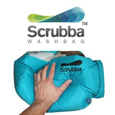 Do your laundry anywhere with the Scrubba Wash Bag, the world's smallest washing machine – perfect for backpacking and camping trips.