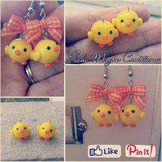 Polymer clay. Chicken charms...