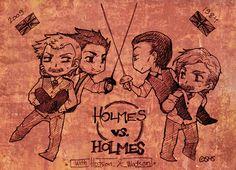 Holmes VS. Holmes by Sadyna.deviantart.com on @deviantART