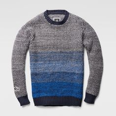 G-Star RAW | Hombres | Cardigans | Coper Round Neck Knit , Deep Ink