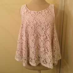 Lace tank Off white and cream lace tank. Great condition Ginger G Tops Tank Tops