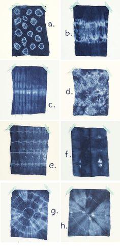 DIY SHIBORI 8 motifs à reproduire pour vos DIY How To Tie Dye, How To Dye Fabric, Fabric Art, Fabric Painting, Impression Textile, Shibori Techniques, Shibori Tie Dye, Textiles, Diy Birthday
