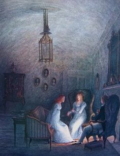 Angela Barrett (A Story of Mary Shelley, Creator of Frankenstein by Sharon Darrow) Pin Up, Mary Shelley, Children's Book Illustration, Book Illustrations, Ghost Stories, Nocturne, Dark Art, Creepy, Fairy Tales