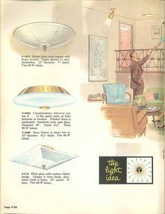 Vintage Virden lighting - 52 page catalog from 1959 - Retro Renovation Ceiling Fixtures, Ceiling Lights, 1950s Furniture, Catalog Cover, Retro Renovation, Types Of Lighting, Vintage Lighting, Mid-century Modern, Vintage World Maps