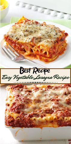 Easy Vegetable Lasagna Recipe Vegetarian Easy Vegetable L Best Vegetarian Lasagna, Vegetarian Recipes Easy, Vegetarian Soup, Healthy Recipes, Cheap Recipes, Vegetarian Breakfast, Vegan Meals, Mexican Recipes, Italian Recipes