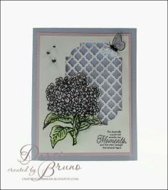 spring card using JustRite Papercraft Hydrangea Vintage Labels Seven with @Spellbinders Fancy Lattice and Labels 38