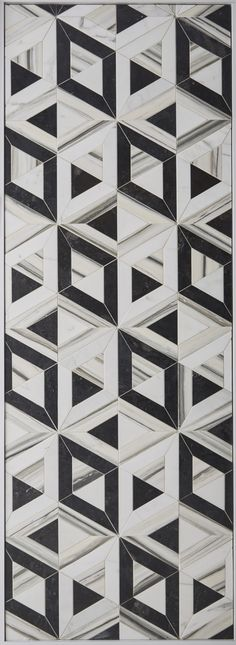 KELLY WEARSTLER X ANN SACKS. 'Liaison Doheny Small' stone patterned tiles