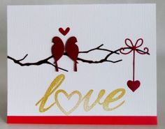 My card was made using my Big Shot and the following Memory Box dies – Woodland Branch, Precious Hearts & Small Nesting Birds. The love stamp was from Papertrey Ink Think Big Favorites #23