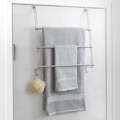 Plenty Of Towels While Taking Advantage Unused Bathroom E With This Totally Bath Over The Door Towel Bar It Mounts Easily On Any Standard