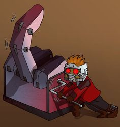 Star-Lord didn't know how this machine worked by on DeviantArt Chris Pratt, Star Lord, Gaurdians Of The Galaxy, Make Em Laugh, Amazing Spider, Marvel Dc Comics, Comic Character, Marvel Cinematic Universe, Movies Showing