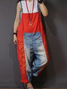 Overalls fashion - Radiant Splice Overall Dungarees for man, orange and blue color clash, so chic for the young boy Funky Fashion, Diy Fashion, Ideias Fashion, Fashion Outfits, Womens Fashion, Bohemian Hippie Clothes, Hippie Outfits, Bohemian For Men, Overalls Fashion