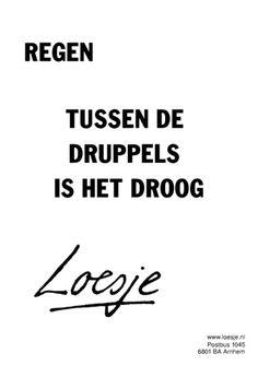Tussen de druppels door is het droog! Nederland, zondag, regen.