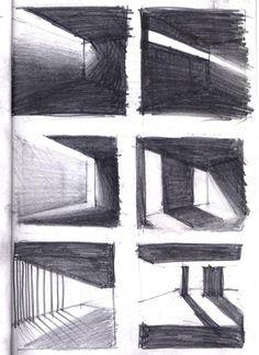 aaa:    Projet Labourdette, recherche sur la lumière, septembre 2011 #architecturaldrawings