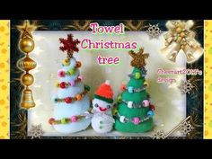 Towel Christmas tree tutorial ( Christmas idea)毛巾聖誕樹教學 - YouTube