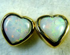 SUNSET RED FIRE BLK OPAL 18K GOLD EARRINGS 2 CTS SCA1405
