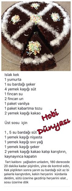 This Pin was discovered by Hob Cake Roll Recipes, Dessert Recipes, Desserts, Pudding Cake, Bakery Cakes, Turkish Recipes, Homemade Beauty Products, Sugar Art, Cute Food