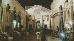 Dancing in Diocletian's Palace, Spalato, Croatia