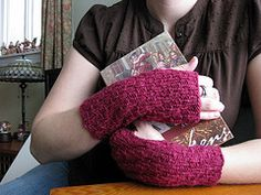 Ravelry: Cosy Knitted Wrist Warmers: Women's pattern by Joelle Hoverson Aran Weight Yarn, Hand Wrist, Wrist Warmers, Yarn Needle, Needles Sizes, Stitch Markers, Knitting Projects, Fingerless Gloves, Cosy
