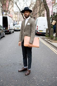 London Collections Mens Street Style Autumn Winter Fall 24