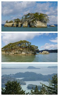 Some of the 260+ tiny islands in Matsushima Bay, Japan.