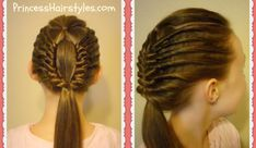 """Join us on Instagram at http://instagram.com/hair4myprincess Our tutorial this week features a fun and unique hair design which our princess has named the """"w..."""